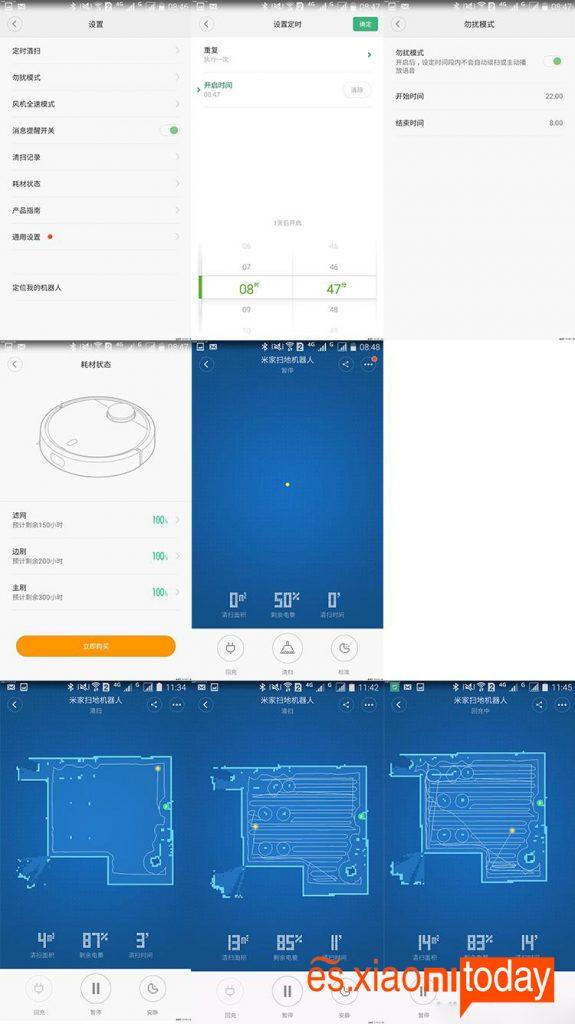 Xiaomi Mi Robot Vacuum Análisis app