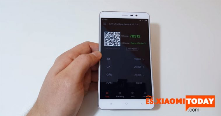 Xiaomi Redmi Note 3 Pro rendimiento