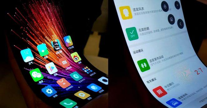 Xiaomi Smartphone con pantalla flexible