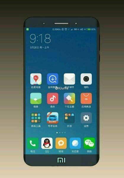 Xiaomi Mi Note 2 render