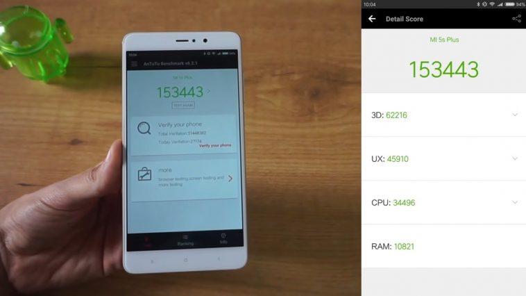 Rendimiento del Xiaomi Mi 5S Plus en Antutu