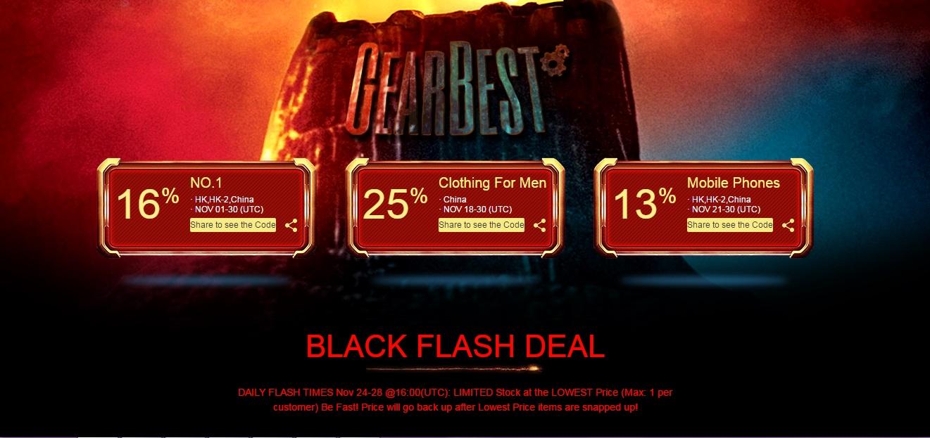 Gearbest Black Friday Promoción