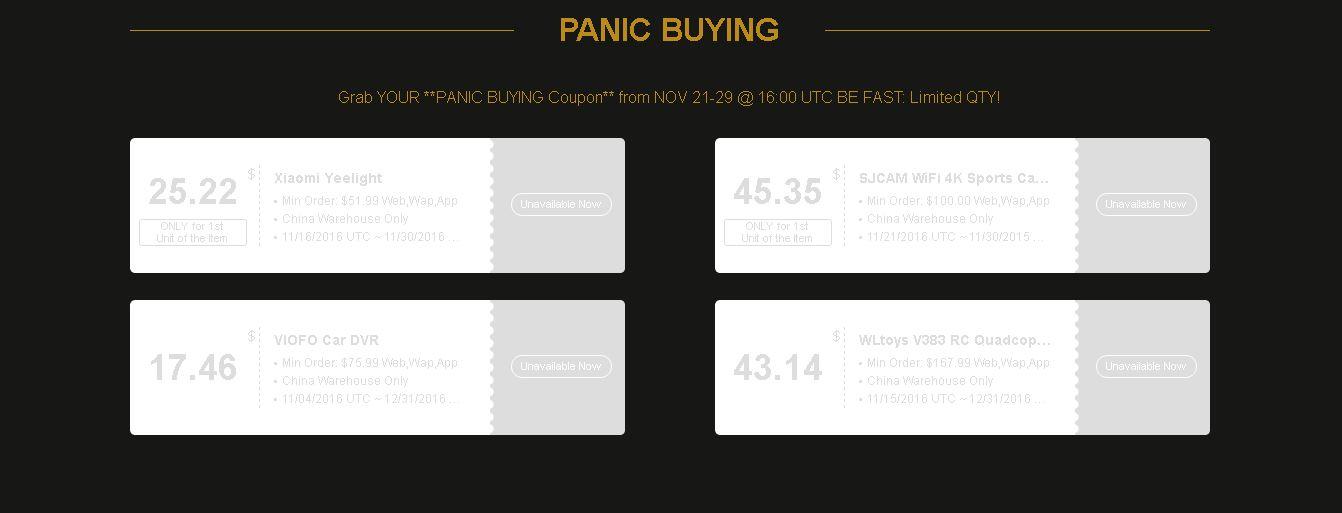 Gearbest Black Friday Compra en Pánico