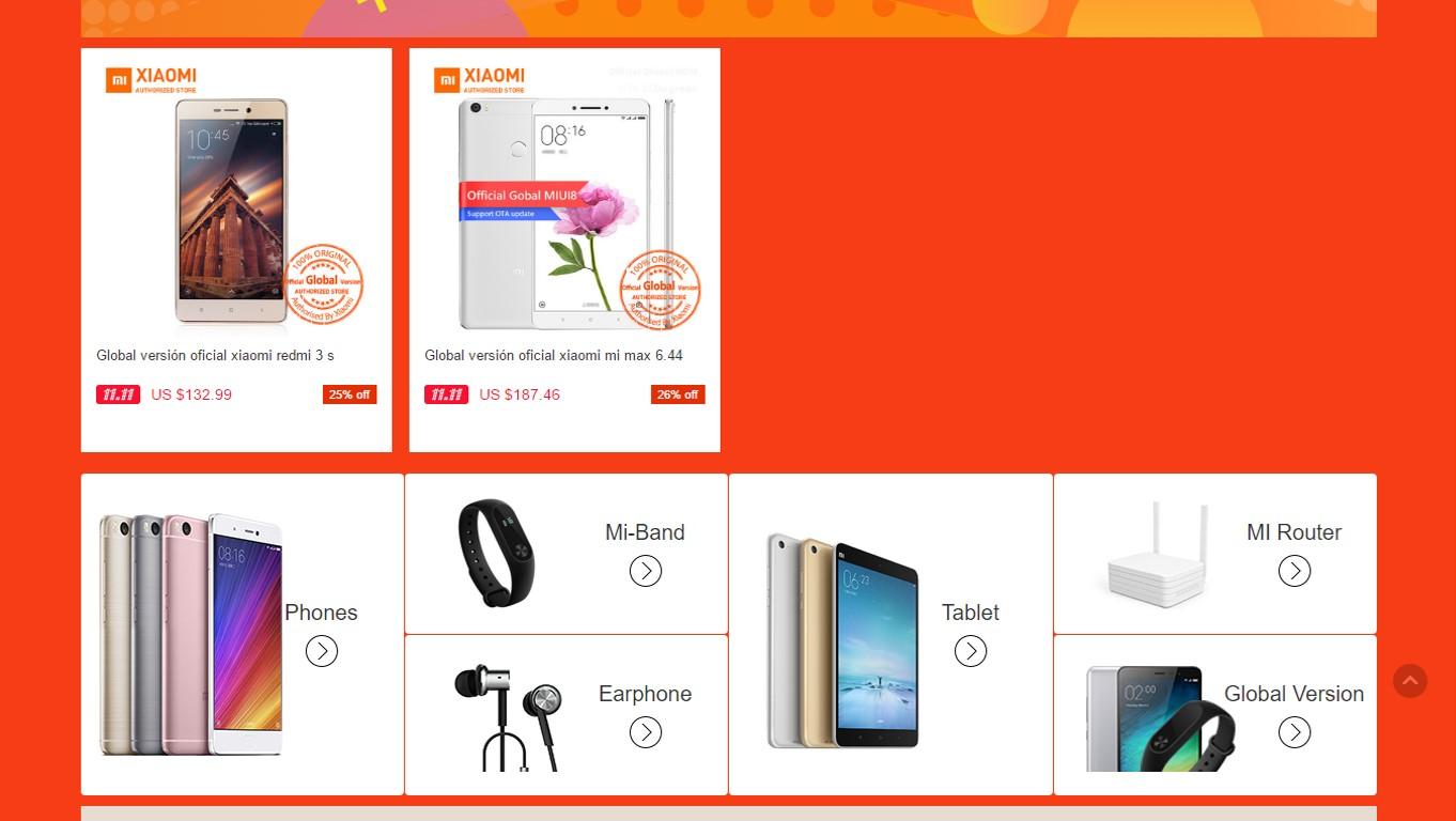 ofertas aliexpress.com 11/11 xiaomi