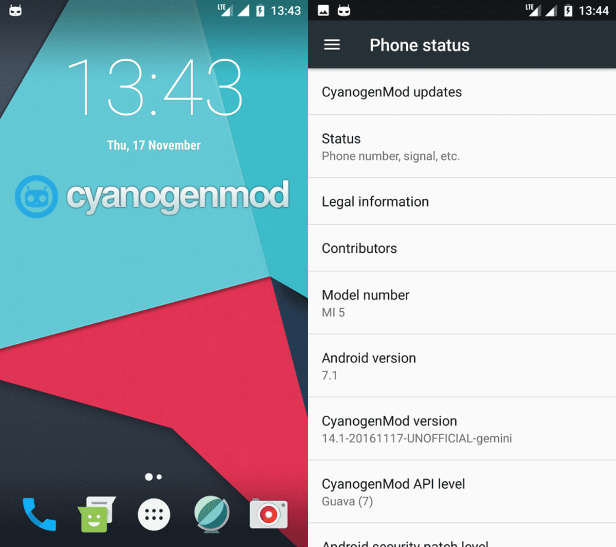 Obtén Android 7.0 en tu Xiaomi Mi 5 con el CyanogenMod 14.1 Imagen destacada