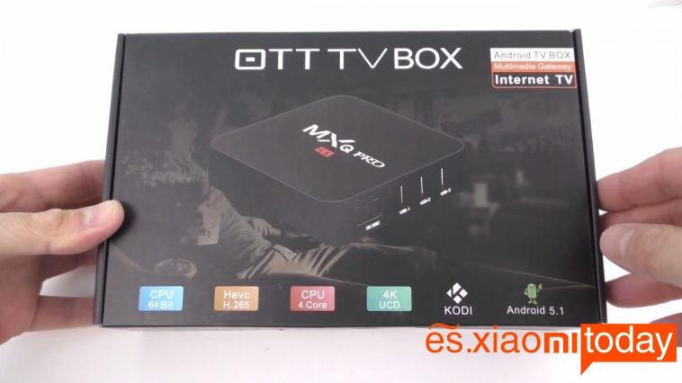 MXQ Pro TV Box Paquete
