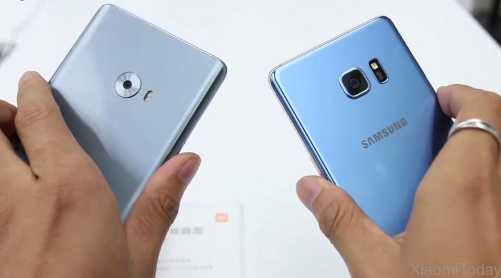 Samsung Galaxy Note 7 VS Xiaomi Mi Note 2 4