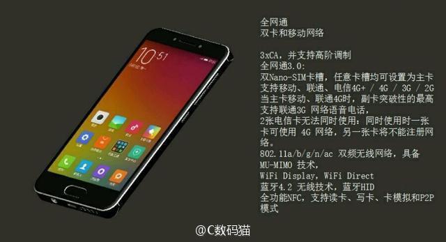 Xiaomi Mi S redes