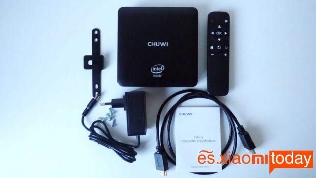 Chuwi HiBox mini pc análisis contenido caja