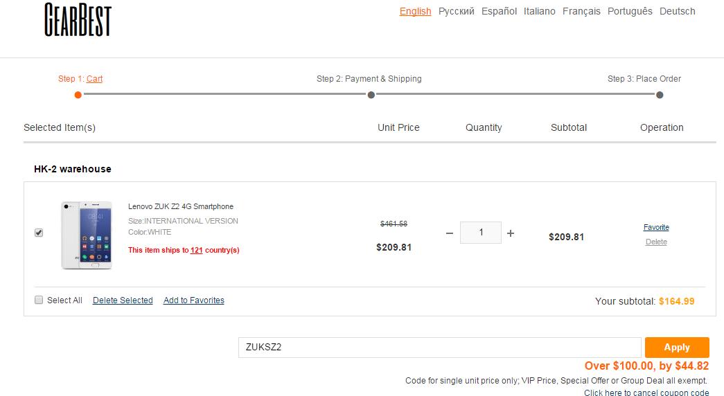 Lenovo Zuk Z2 oferta