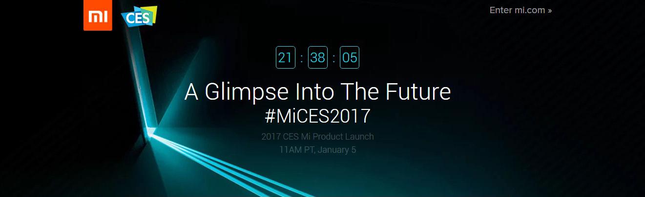 Clic aquí Seguir el evento de Xiaomi en el CES 2017