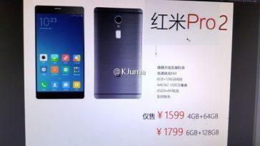 El supuesto póster de Pre-venta del Xiaomi Redmi Pro 2 que apareció un mes atrás.