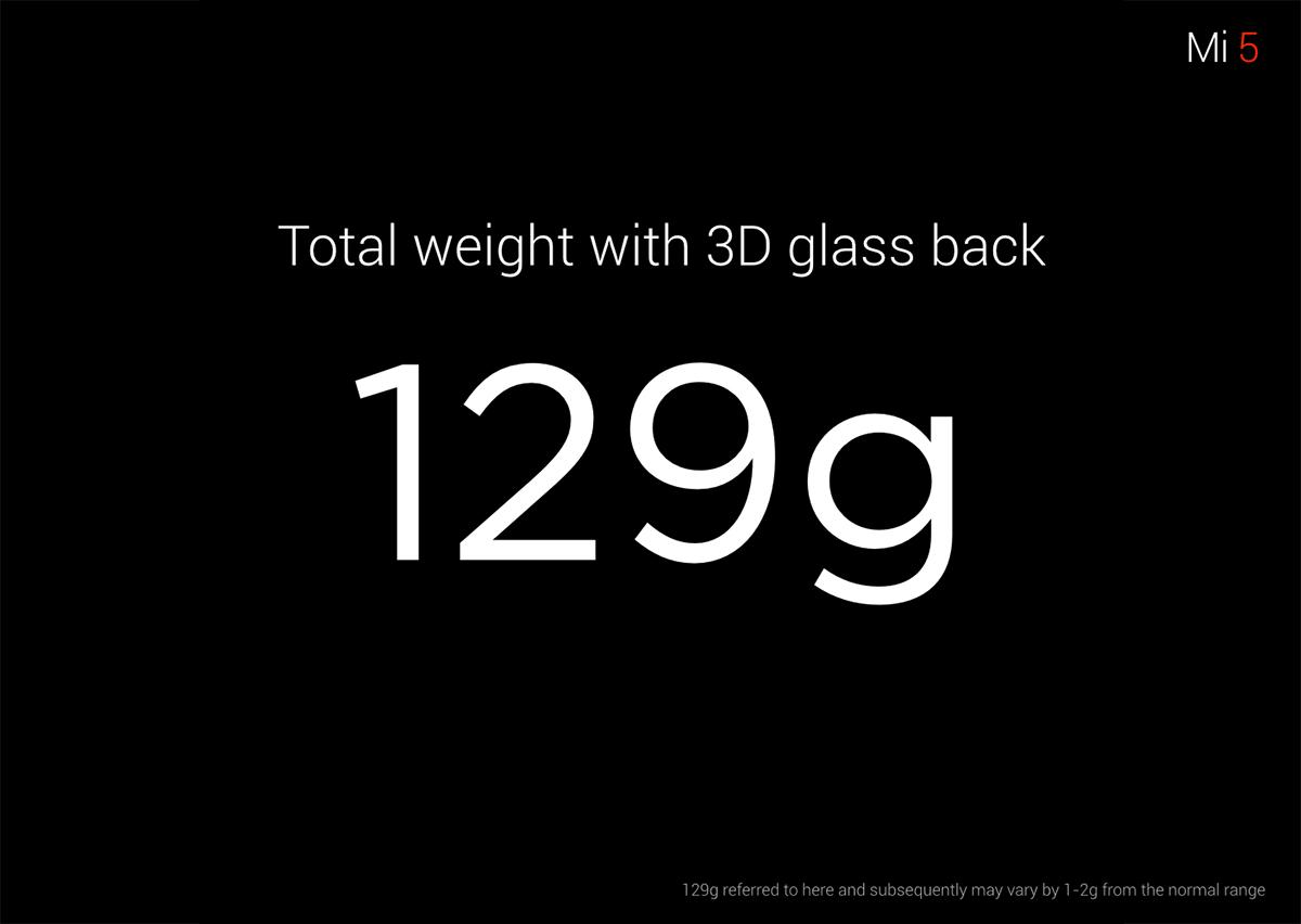 129g Xiaomi M5
