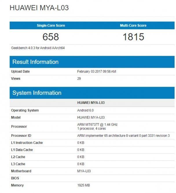 Huawei Maya geekbench