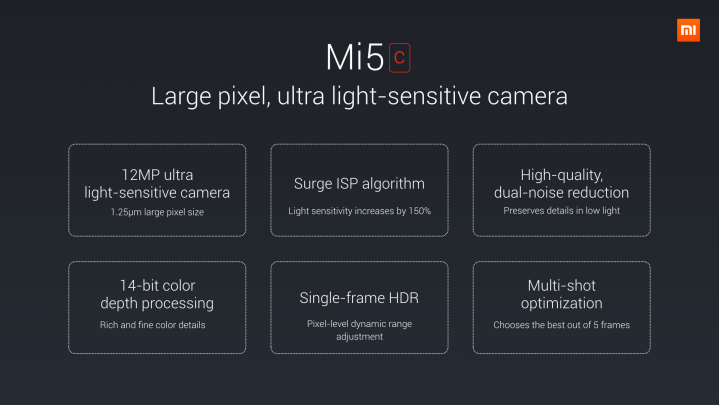 Cámara del Xiaomi Mi 5c