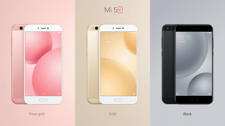 El Xiaomi Mi 5c viene con 3 opciones de color