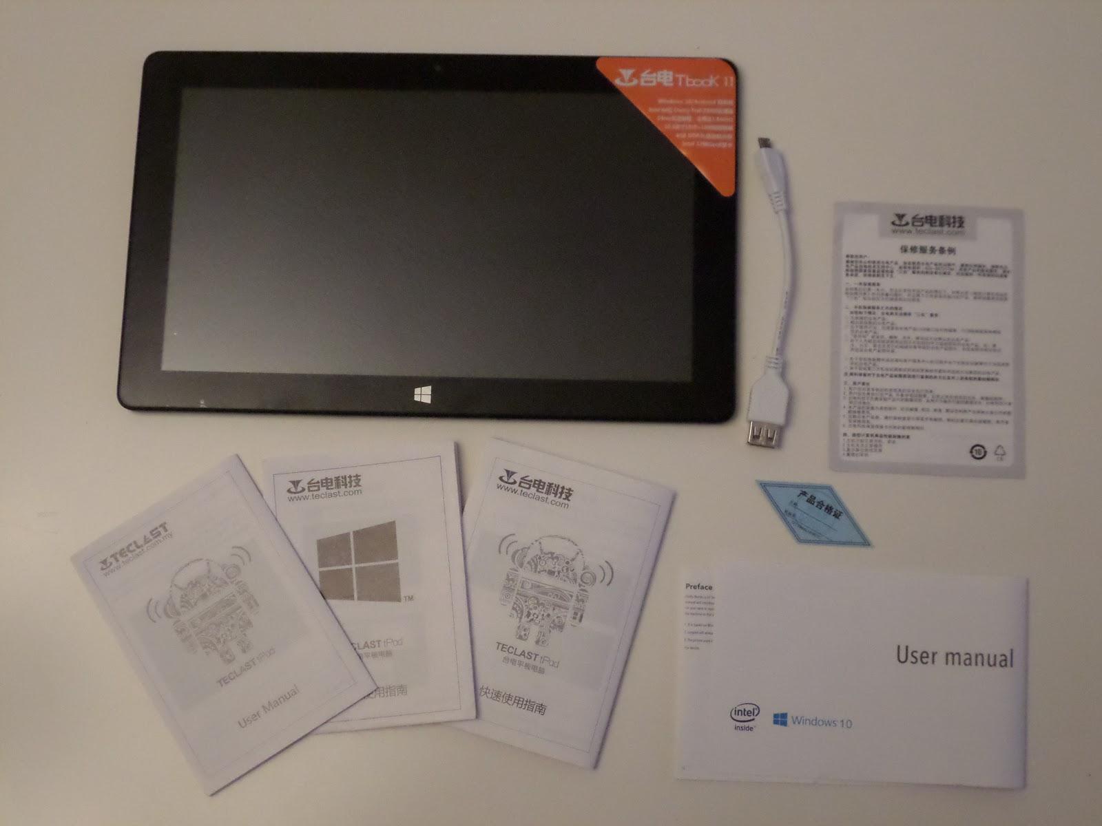 paquete Teclast Tbook 11