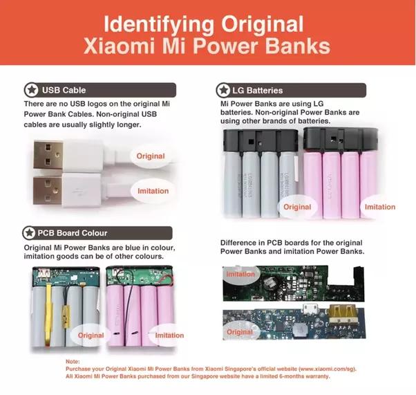 Cómo identificar a los Xiaomi Power Banks falsos