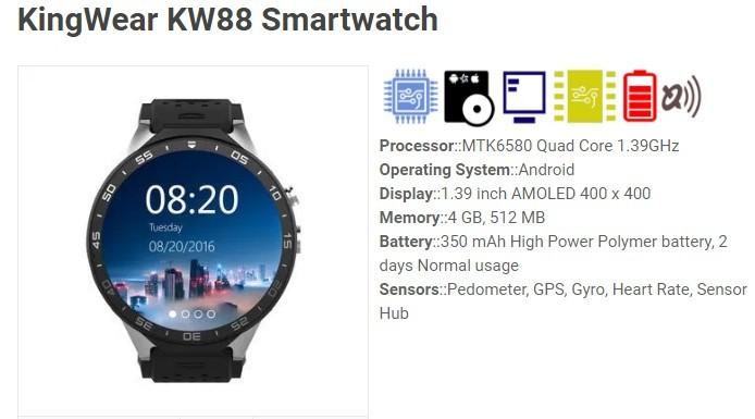 kingwear kw88 análisis