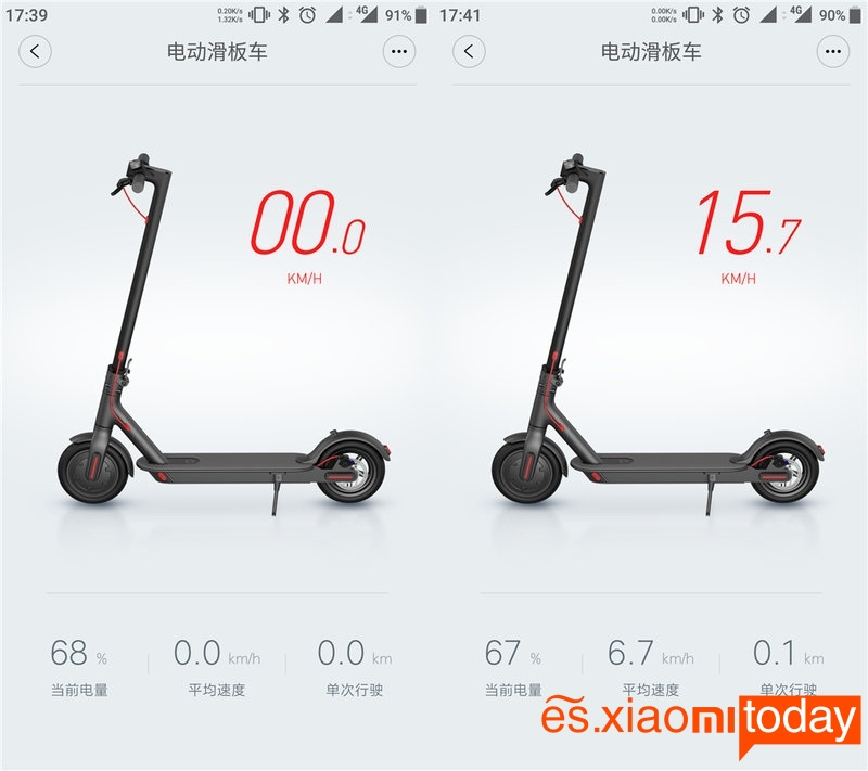 Scooter eléctrico Xiaomi M365 app