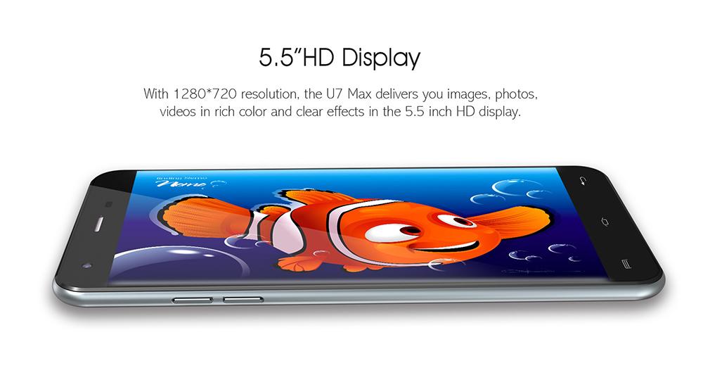 screen display oukitel u7 max