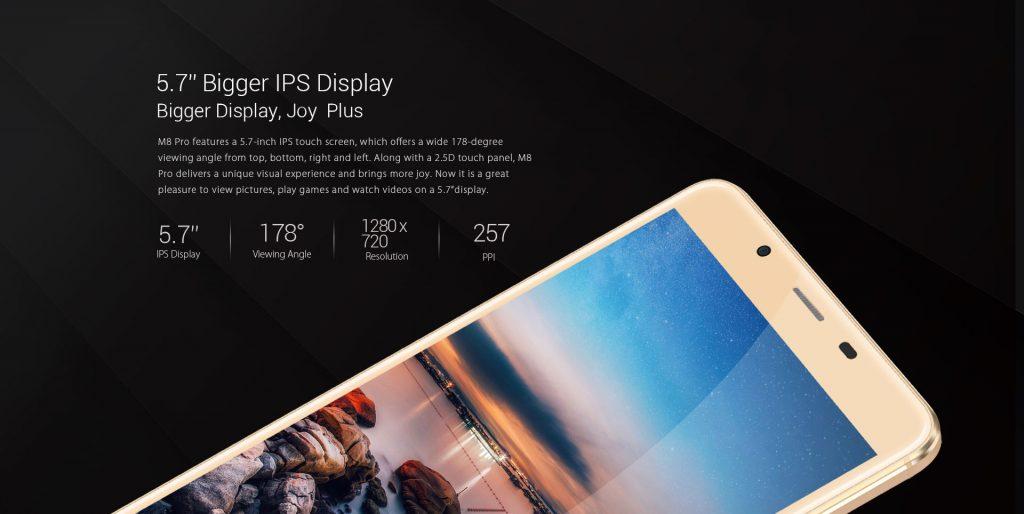 LEAGOO M8 PRO pantalla
