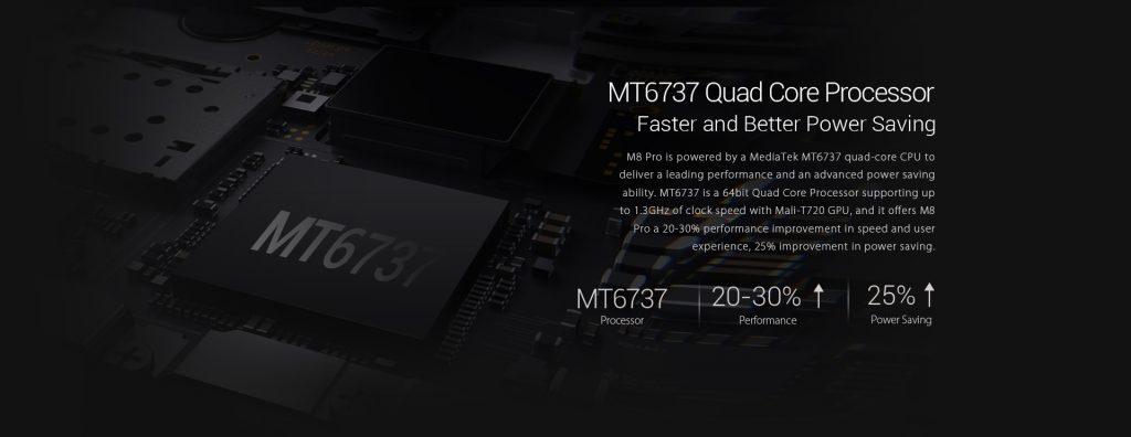 LEAGOO M8 PRO procesador