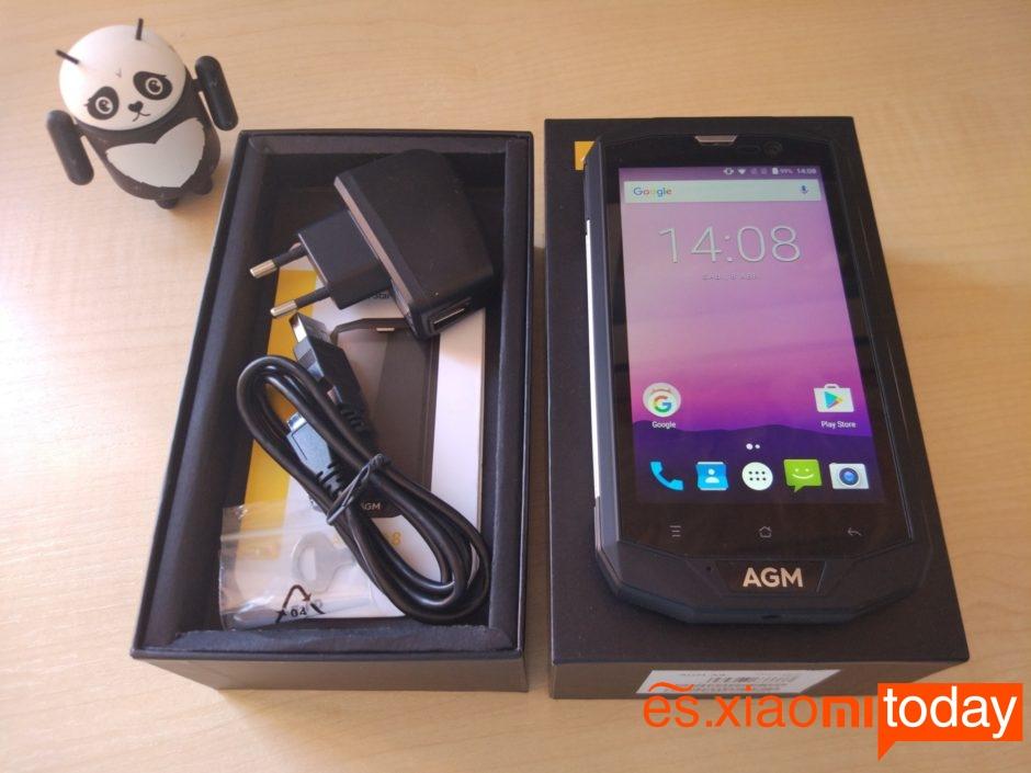 AGM A8 paquete abierto
