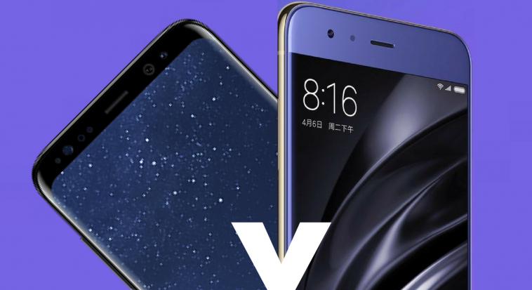 Samsung Galaxy S8 y Xiaomi Mi6 -