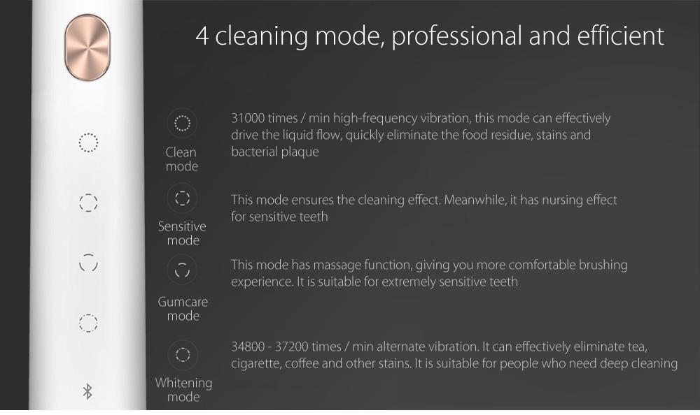 Soocas X3 Sonic modos de limpieza