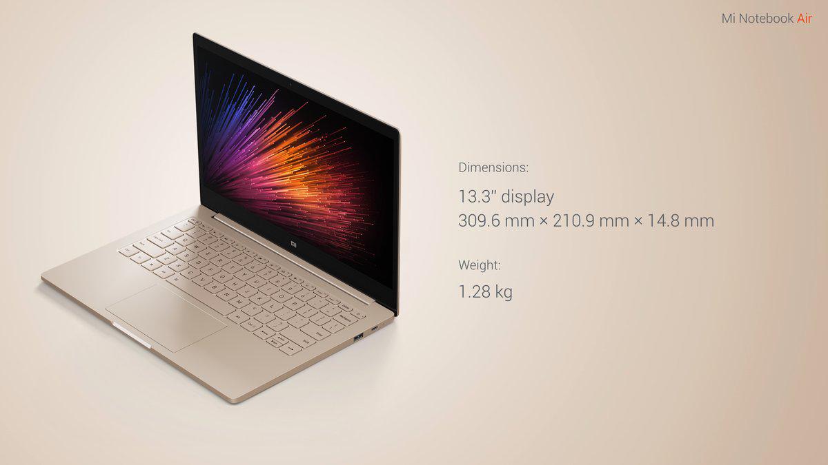 Xiaomi Air 13 dimensiones