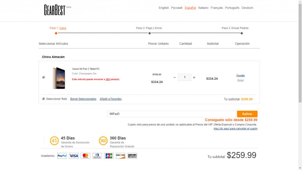 Xiaomi Mi Pad 3 oferta