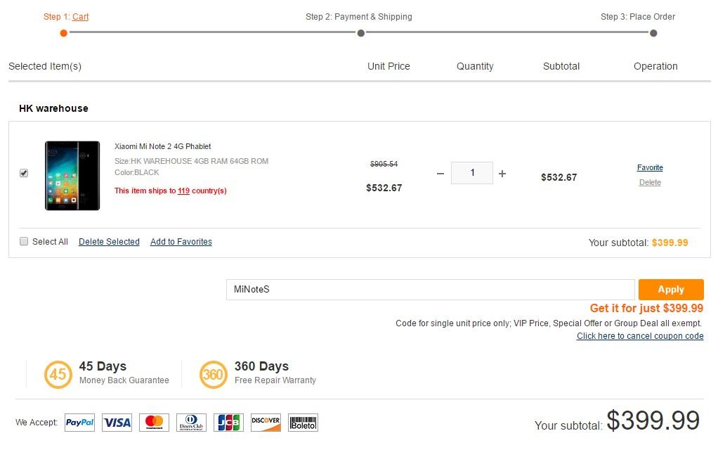 Xiaomi Mi note 2 oferta