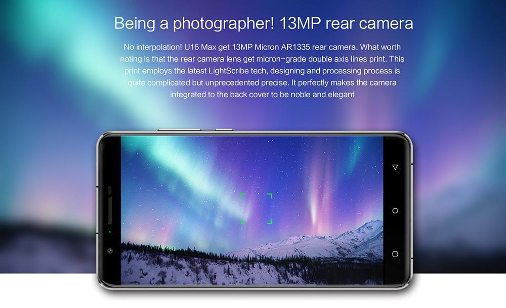 Oukitel U16 Max cámara