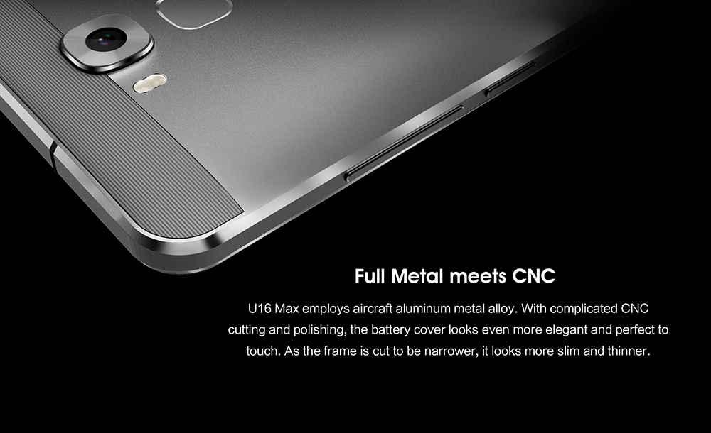 Oukitel U16 Max diseño CNC