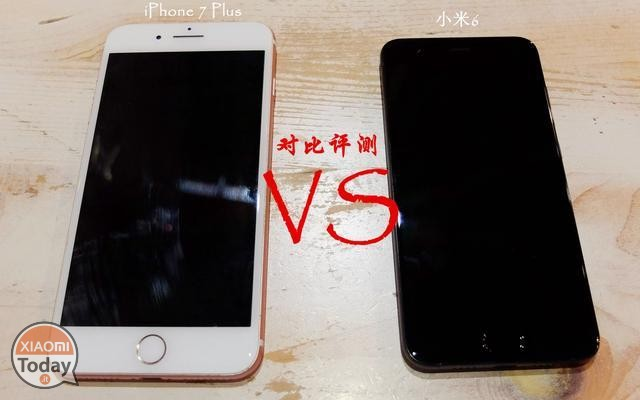 Xiaomi Mi6 vs iPhone 7 Plus portada