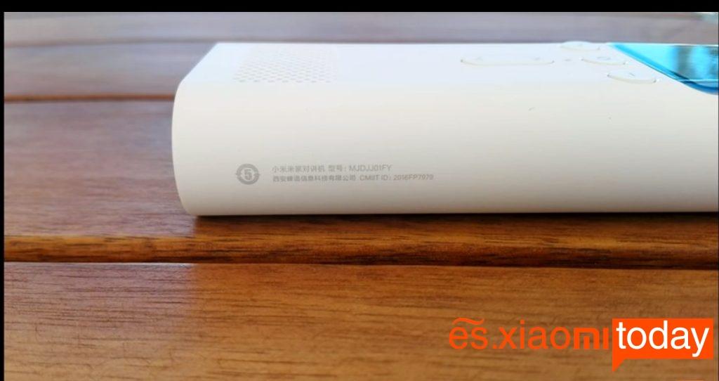 Xiaomi MiJia Walkie Talkie lado derecho
