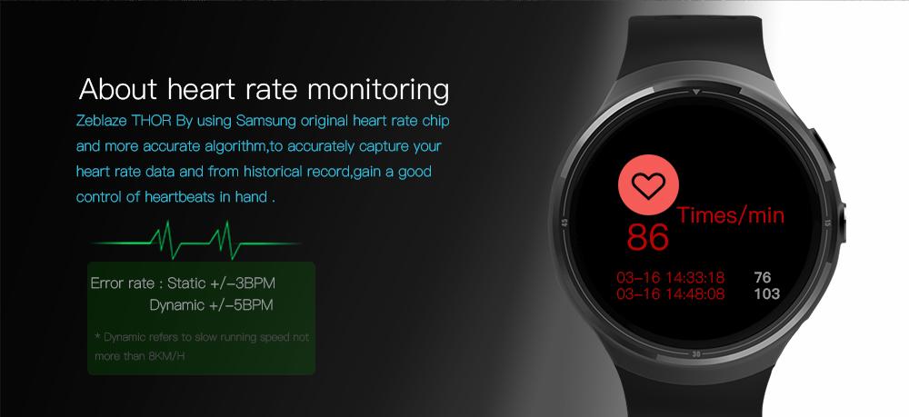 Zeblaze THOR sensor de frecuencia cardíaca