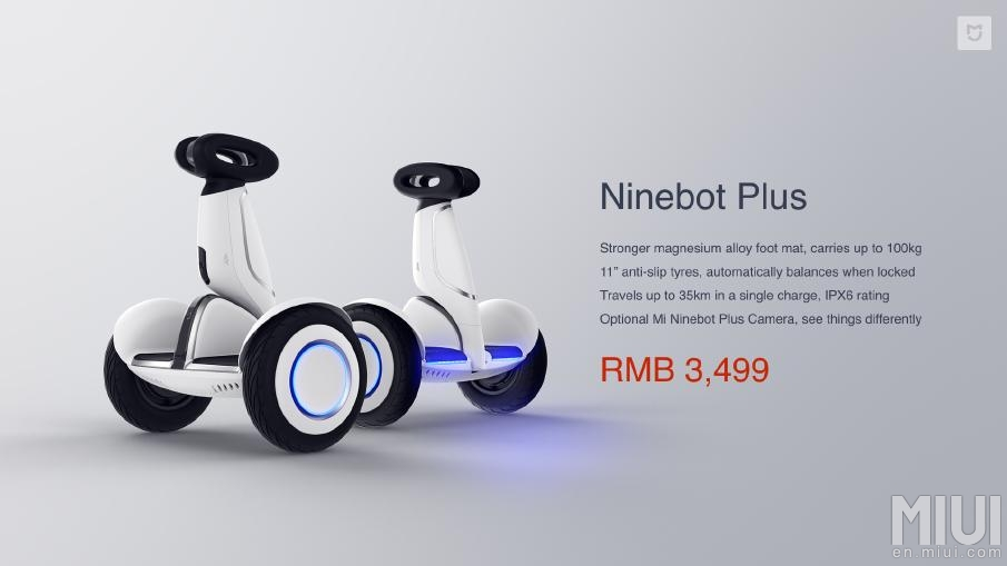 Características del Ninebot Plus