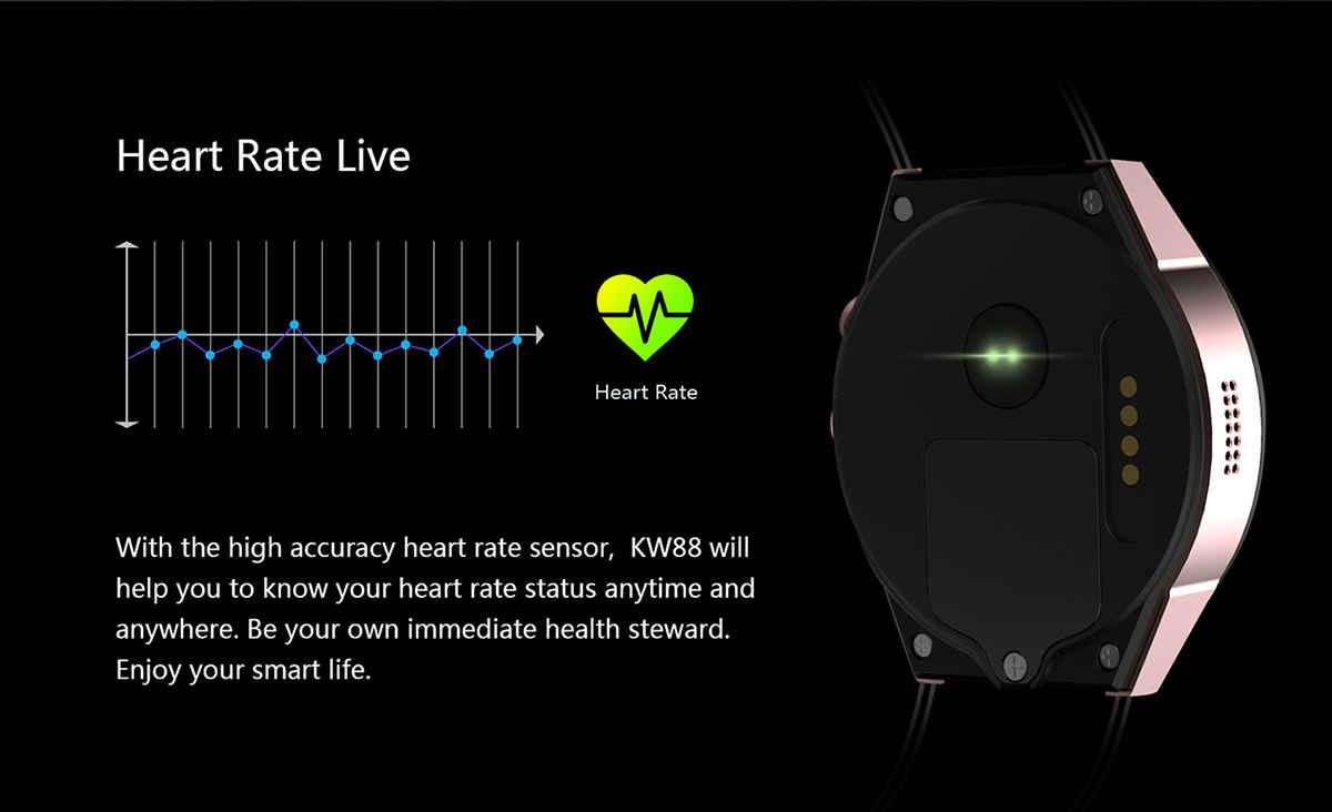 KingWear KW88 Frecuencia cardíaca