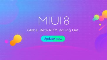 Beta Global de MIUI 8 ROM 7.7.20 Descarga y lista de Cambios