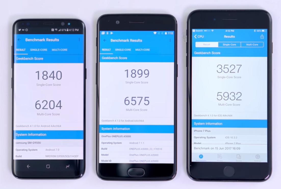 OnePlus 5 VS Xiaomi Mi 6 rendimiento