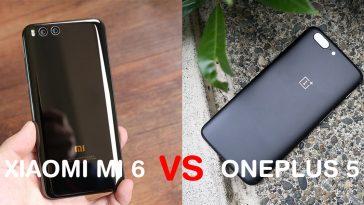 OnePlus 5 VS Xiaomi Mi 6 destacada