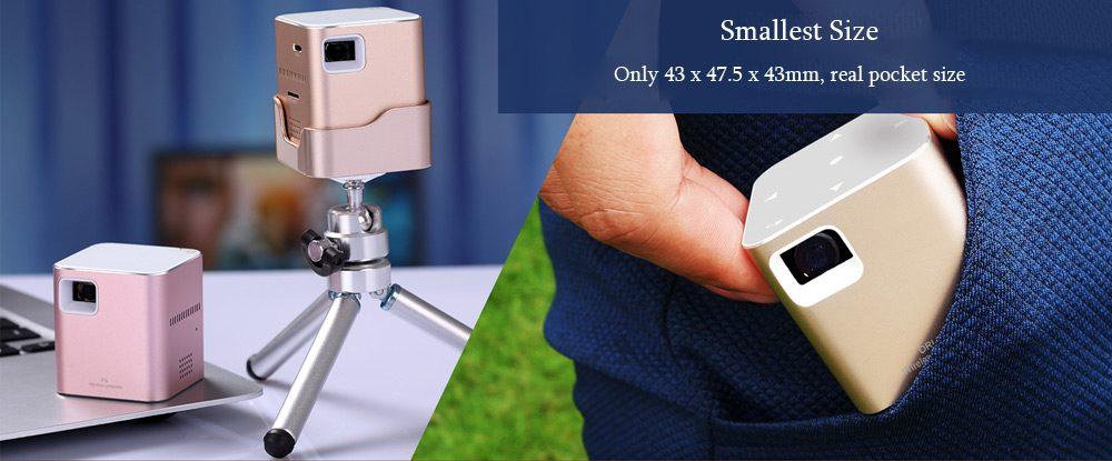 P6 Portable Smart Mini DLP diseño