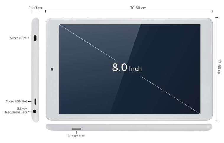 Teclast X80 Pro Diseño