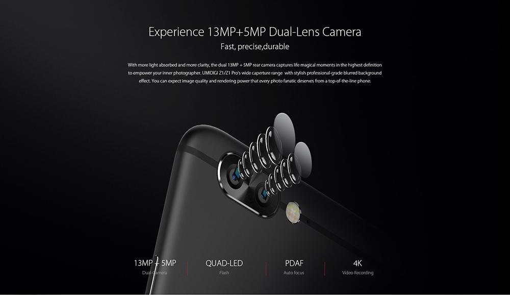 UMIDIGI Z1 y UMIDIGI Z1 Pro cámara