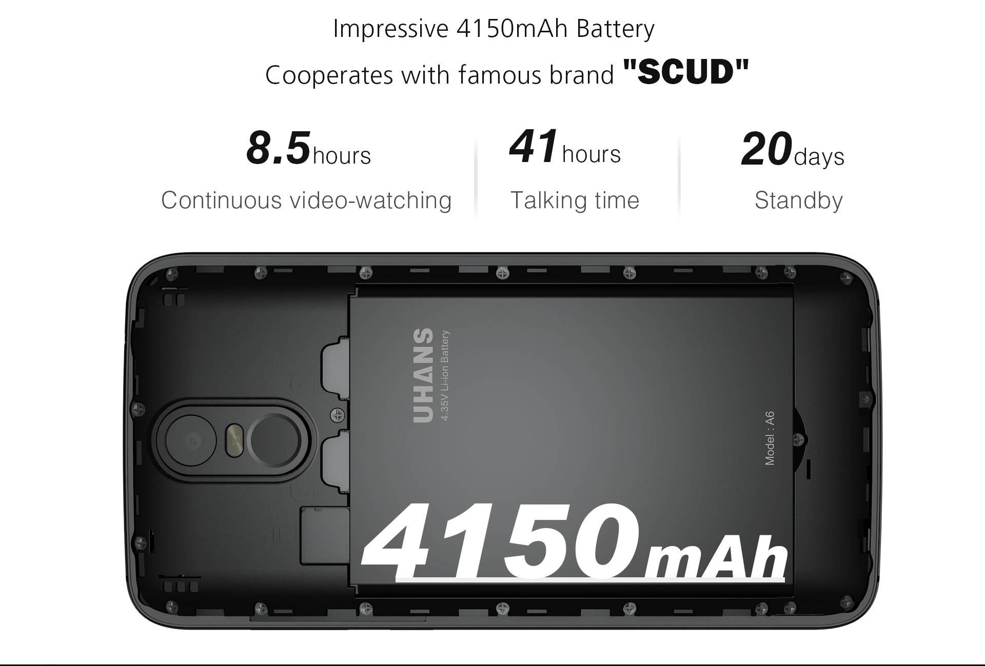 Uhans A6 Batería