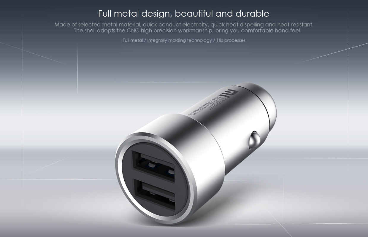 Xiaomi Car charger diseño