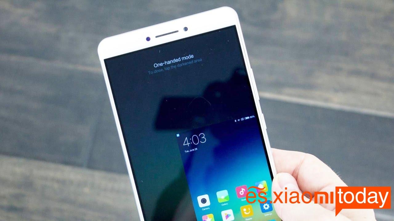 Xiaomi Mi MAX 2 funciones de la pantalla