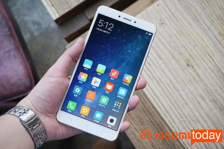 Xiaomi Mi MAX 2 opciones de la pantalla